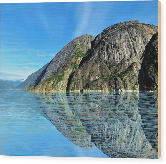 Wood Print featuring the photograph Alaska Rock Reflection by Joan Stratton