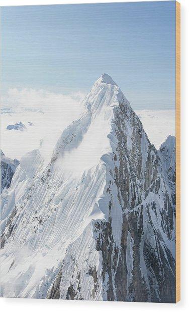 Alaskan Peak Wood Print by Earleliason