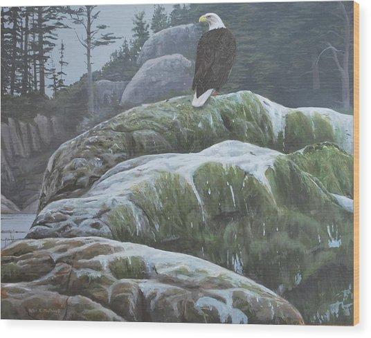 Alaskan Sentinel Wood Print