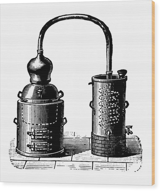 Alembic | Antique Design Illustrations Wood Print