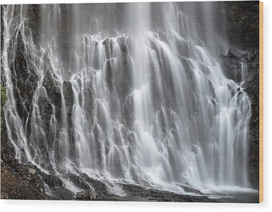 Wood Print featuring the photograph Alexander Falls Close Up by Pierre Leclerc Photography