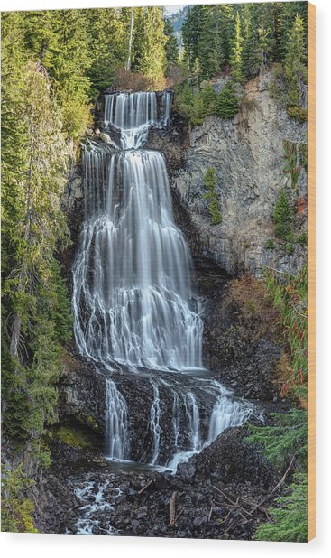 Wood Print featuring the photograph Alexander Falls Of The Callaghan Valley by Pierre Leclerc Photography