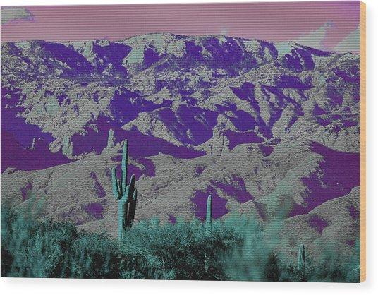 Alien Colors On Mount Lemmon Wood Print