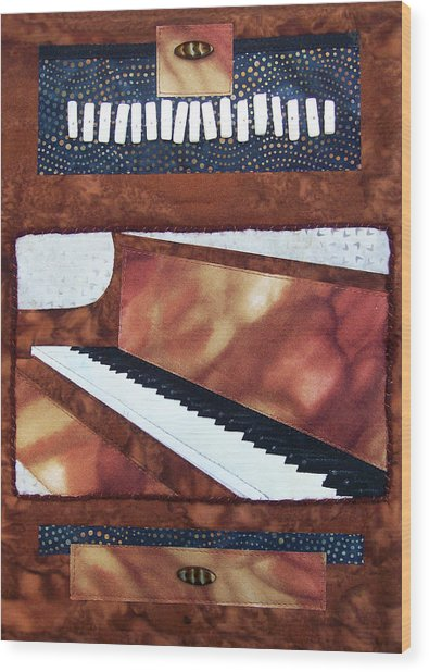 All That Jazz Piano Wood Print
