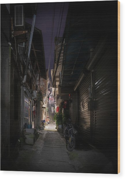 Wood Print featuring the photograph Alleyway On Old West Street by William Dickman