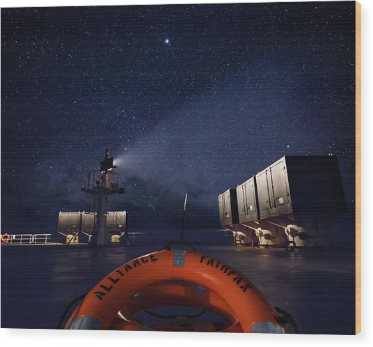 Wood Print featuring the photograph Alliance Fairfax Starry Night by William Dickman