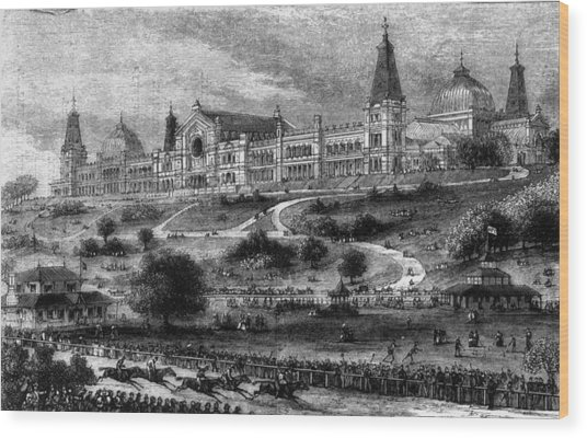 Ally Pally Racing Wood Print by Hulton Archive