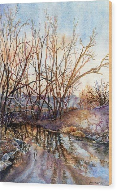 Along Boulder Creek Wood Print