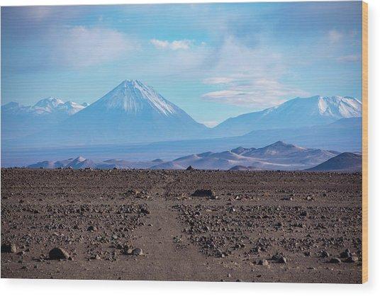 Along The Inca Trail In The Atacama Desert Wood Print