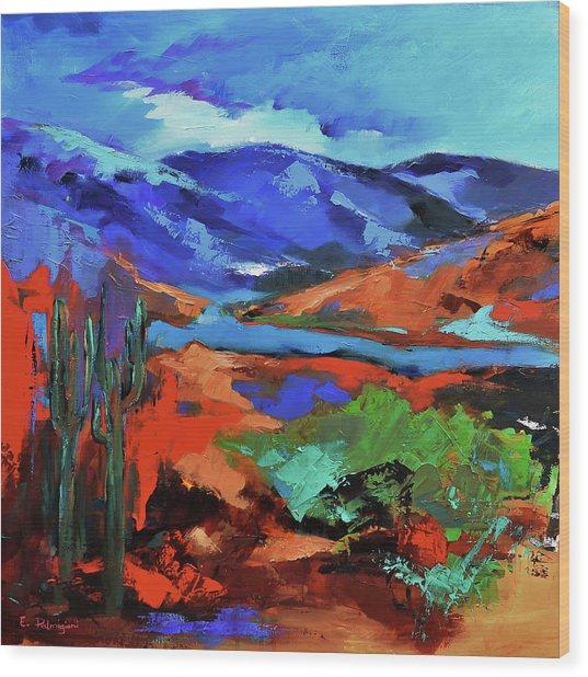 Along The Trail - Arizona Wood Print
