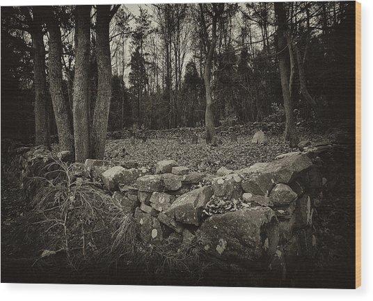 Alpine Benders Cemetery Wood Print