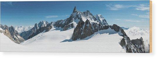Alps White Wilderness Dramatic Wood Print