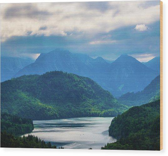 Alpsee Wood Print