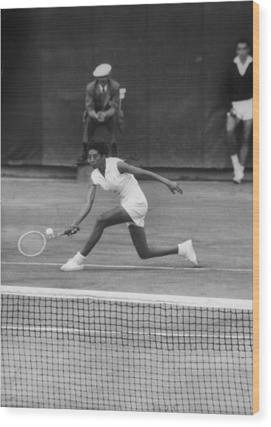 Althea Gibson Wood Print by Thomas D. Mcavoy