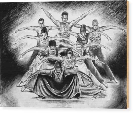 Alvin Ailey Revelations Study Of 'pilgrim Of Sorrow' Wood Print