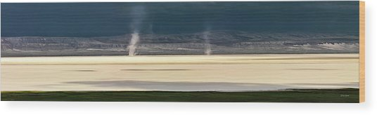 Alvord Panoramic 4 Wood Print by Leland D Howard