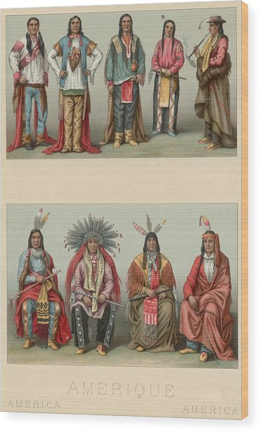 American Chiefs Wood Print by Hulton Archive