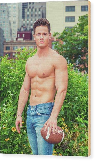 American City Boy.  Wood Print