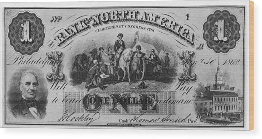 American Civil War Currency Wood Print by Kean Collection