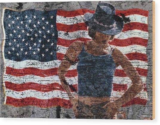 American Woman Wood Print