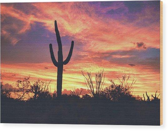 An Arizona Sunset Wood Print