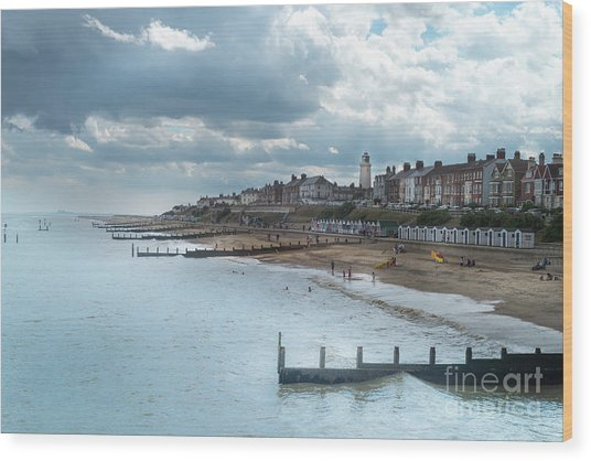 An English Beach Wood Print