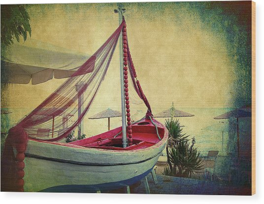 Wood Print featuring the photograph an Old Boat by Milena Ilieva