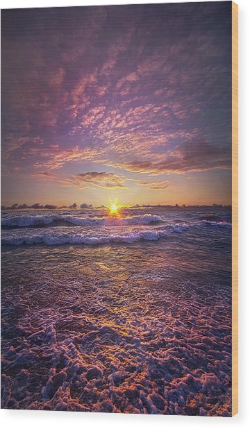 Wood Print featuring the photograph And Then Begin Again by Phil Koch