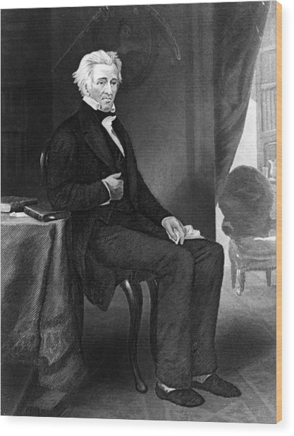 Andrew Jackson Wood Print by Hulton Archive