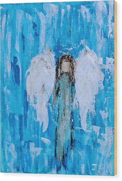 Angel Among Angels Wood Print