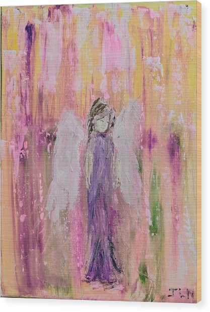 Angel In  Paradise Wood Print