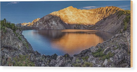 Angel Lake Wood Print by Leland D Howard