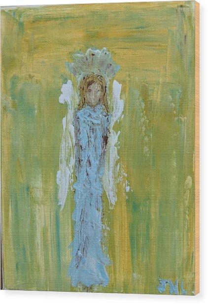 Angel Of Vision Wood Print