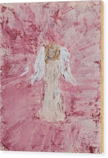 Angel Was Lost But Now Is Found  Wood Print
