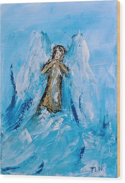Angel With A Purpose Wood Print