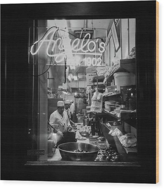 Angelo's Of Mulberry Street Wood Print