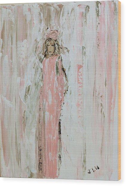 Angels In Pink Wood Print
