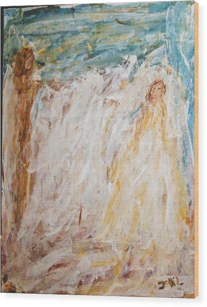 Angels Of Peace Wood Print
