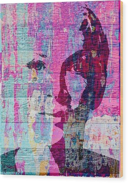 Annie Lennox Wood Print