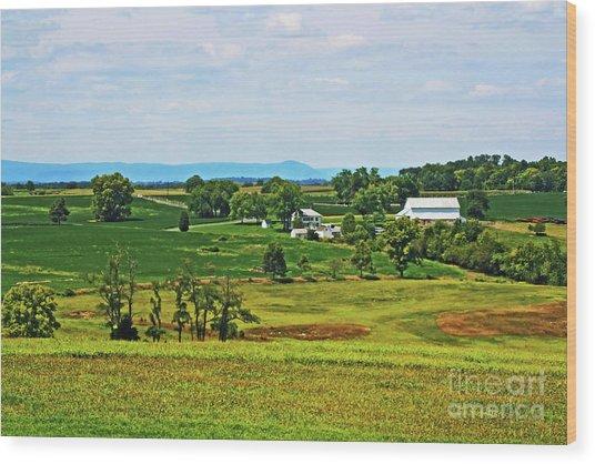 Wood Print featuring the photograph Antietam Battlefield And Mumma Farm by Patti Whitten