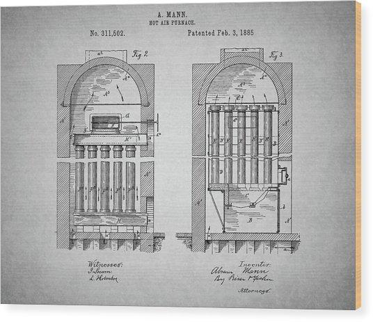 Antique Furnace Wood Print