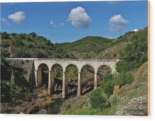 Antique Mertola's Bridge In Alentejo Wood Print