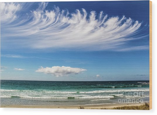 Aotearoa - The Long White Cloud, New Zealand Wood Print