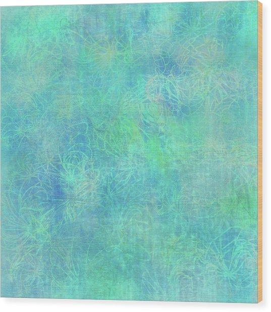 Aqua Batik Print Coordinate Wood Print