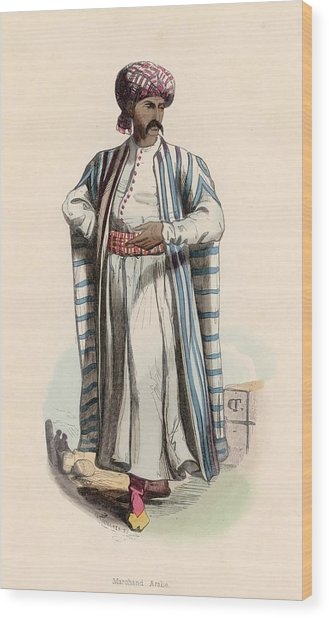 Arab Merchant Wood Print by Hulton Archive
