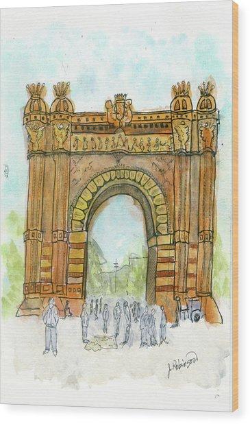 Arc De Triompf, Barcelona Wood Print