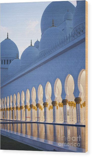 Arches Of Grand Mosque Of Abu Dhabi Wood Print