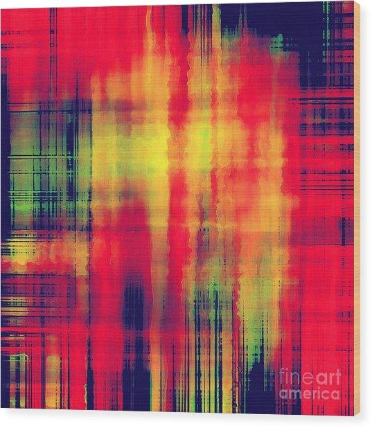 Art Abstract Geometric Pattern Wood Print