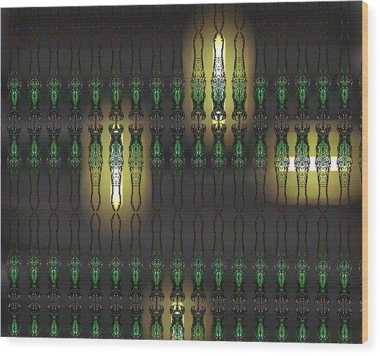 Art Deco Design 15 Wood Print