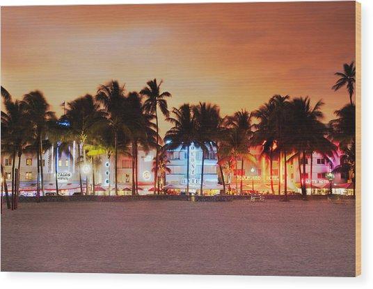 Art Deco District Miami South Beach Wood Print